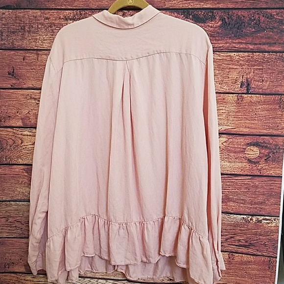 Asos asos light pink button down blouse size 22 from for Pastel pink button down shirt