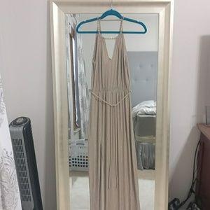 Goddess Dress. Beige and silver.