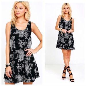 Lulu's Dresses & Skirts - Lulu's Surf Swell Black Embroidered Swing Dress