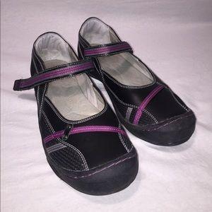 Jambu Shoes - Jambu Europa Purple & Black Mary Janes