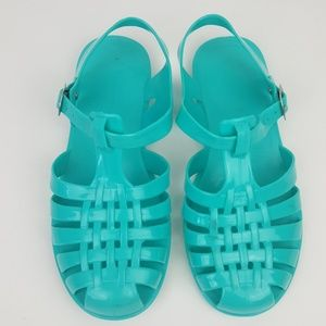 🌺 Turquoise Summer Sandals Size 5