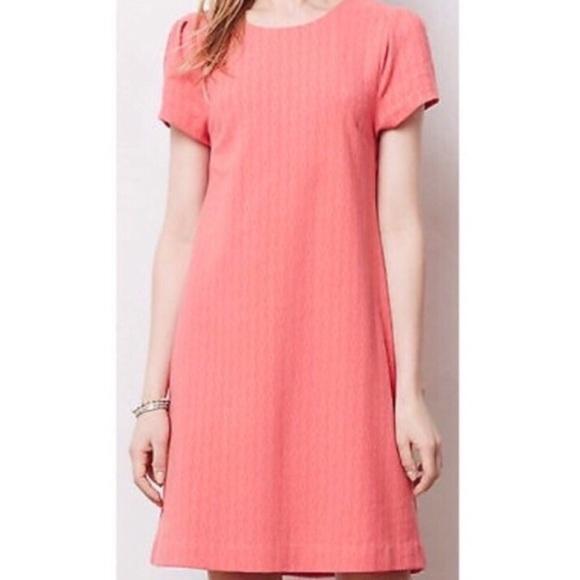 d66bceac5f46 Anthropologie Dresses & Skirts - Anthropologie Maeve Coral Dress