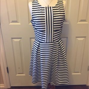Black and White Striped Dress