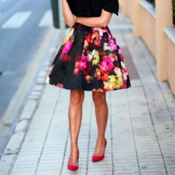 8b4947892 Ted Baker Skirts | Womens Abaigh Cascading Floral Skirt 0 | Poshmark