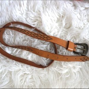 Accessories - Vintage Hand Made Leather Belt