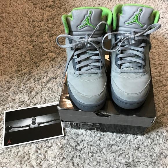 low priced 5e688 03dba Jordan Other - Air Jordan 5 Retro –Silver Green Bean – Flint Grey