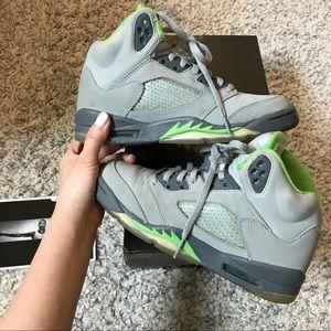 bf2af1f25efd Jordan Shoes - Air Jordan 5 Retro –Silver Green Bean – Flint Grey
