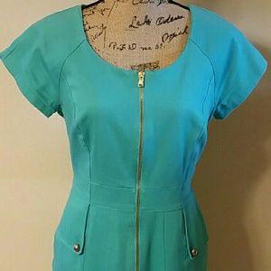Chetta B Dresses & Skirts - {Chetta B} Tiffany Blue Body Concious Dress