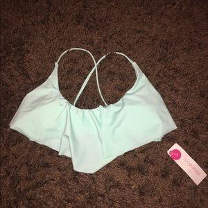 Xhilaration Other - Flounce strappy bikini top!!