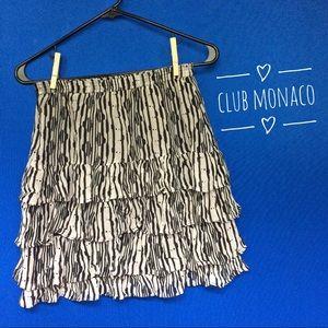 Club Monaco Dresses & Skirts - CLUB MONACO patterned mini skirt