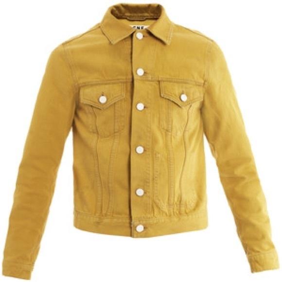 Acne Jackets Coats Mens Studios Mustard Yellow Denim Jacket