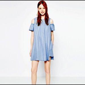 Zara Dresses & Skirts - Zara Cold-Shoulder Dress