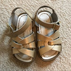 Salt Water Sandals by Hoy Other - Salt water gold sandals