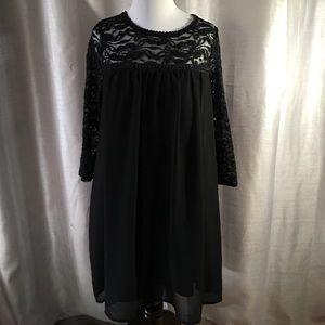 As U Wish black lace dress