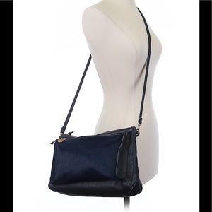 Clare Vivier Handbags - Clare V. Navy Pony Gosee Crossbody Bag
