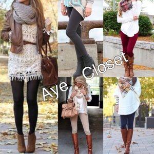 Pants - High waist fleece lined fall winter basic comfy