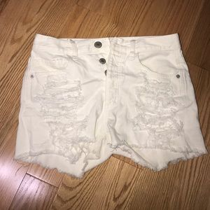 Pants - American Eagle White distressed shorts