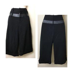 Black Halo Pants - Black Halo Cropped Pants SZ 2