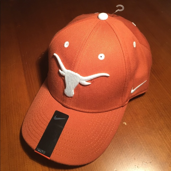 best website 49e89 d59ae Texas Longhorn Nike Velcro Strap-On Baseball Cap. M 592b51dafbf6f98d34002cc3