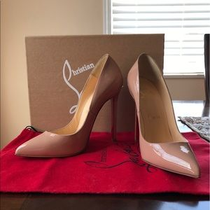 Christian Louboutin Shoes - Pigalle 120 Patent Calf in size 37