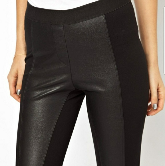 6cf51588cc363 BCBGMaxAzria Pants - Bcbg faux leather leggings with tuxedo detailing