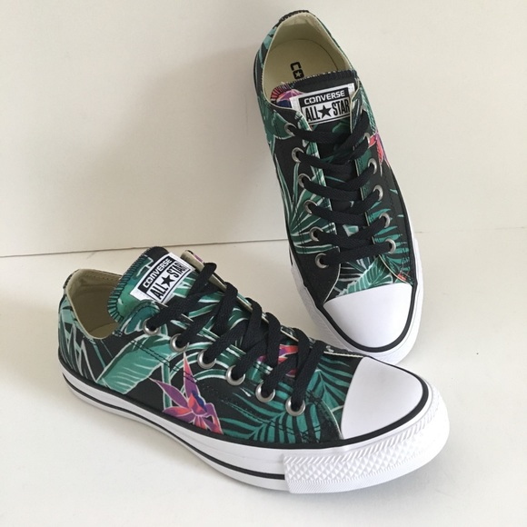 abc792f93c480e New Tropical Converse low top Floral sneakers