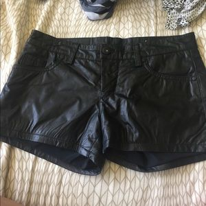Blank NYC Pants - Blank NYC leather shorts
