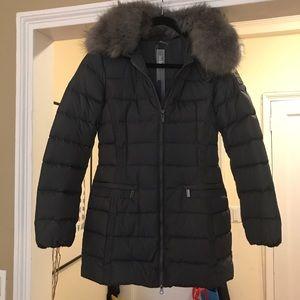 Add Down Jackets & Blazers - Add Down grey puffer coat with fur