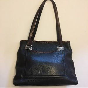 Brighton Handbags - Vintage Brighton Leather Croc Embossed Tote