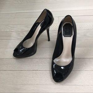 Christian Dior Shoes - Christian Dior Miss Dior Peep Toe Patent Pump 37