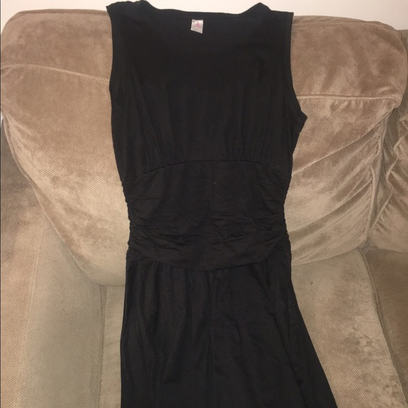 df81557143 Nanette Lepore Dresses | Black Rouched Cotton Dress | Poshmark