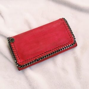 {stella mccartney} 🌿 falabella cherry red wallet