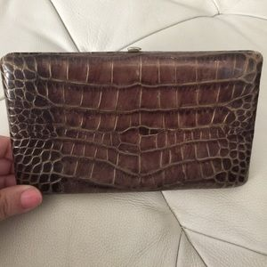 Abas Handbags - Abas crocodile embossed clutch wallet