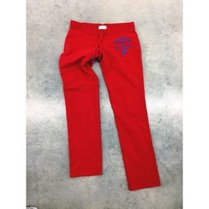 Abercrombie & Fitch Pants - Abercrombie red super soft Lounge track pants M