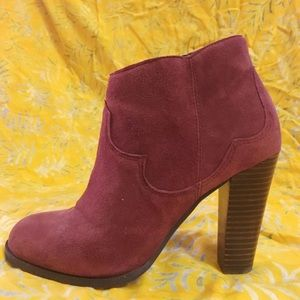 Shoemint Shoes - SHOEMINT faux shade maroon booties, size 6