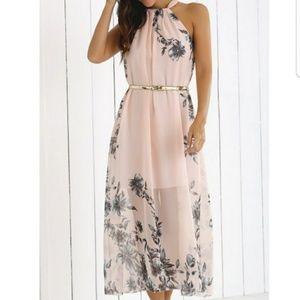Dresses & Skirts - Blush Bohemian Floral Maxi Dress