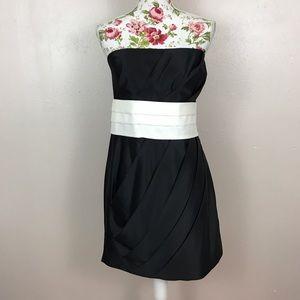 Allen B. By Allen Schwartz Dresses & Skirts - Black and white strapless dress