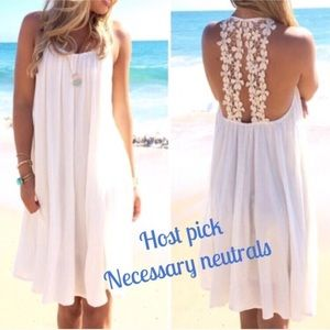 Gorgeous crochet / cotton blend sheer cover up