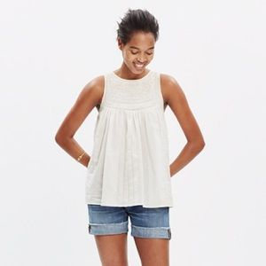 Madewell Embriodered Swing Top