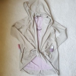 Seneca Rising Sweaters - front knotted hooded cardigan sweater jacket