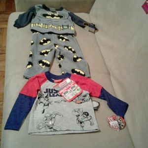 Other - Infant Pajama set and long sleeve justice league