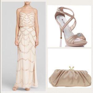 Aidan Mattox Dresses & Skirts - 🥂Champagne 🥂Colored Aidan Mattox Evening Dress