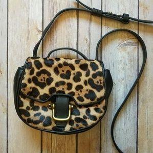 J. Crew Handbags - J. CREW leopard print calf hair crossbody