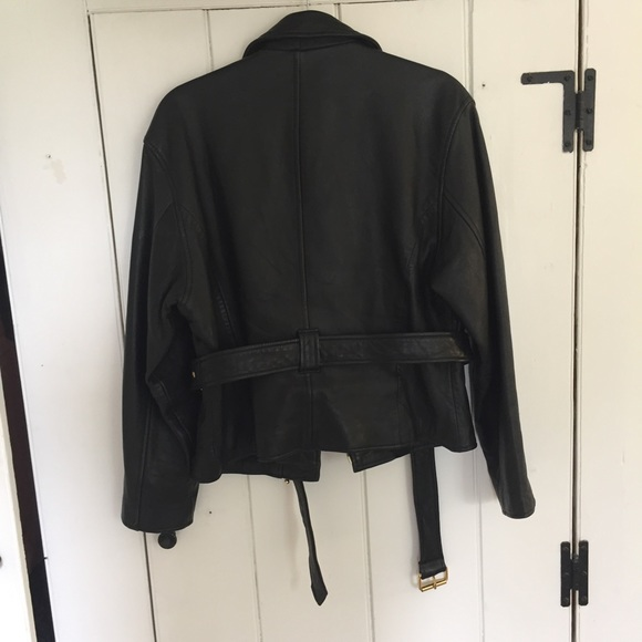 Topshop Jackets & Coats - 100% Leather Moto Jacket