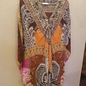 Camilla Dresses & Skirts - Camilla Silk Kaftan Mini Dress