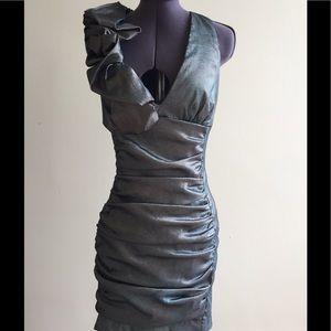 8339dc1f9acc1 ... Jessica McClintock turquoise cocktail dress ...