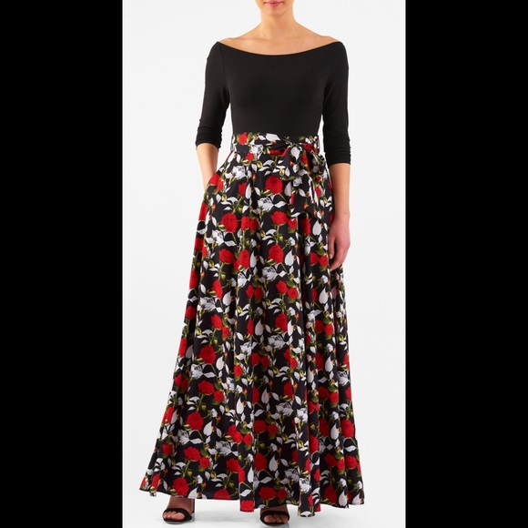 Eshakti New Eshakti Rose Fit Amp Flare Maxi Dress 18w From