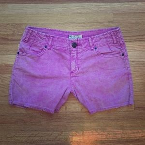 Free People pink corduroy shorts size 26
