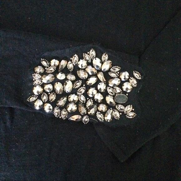 Zara Sweaters - Zara Crystal Embellished Asymmetrical Sweater
