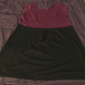 Maroon and Black color blocked Merona dress
